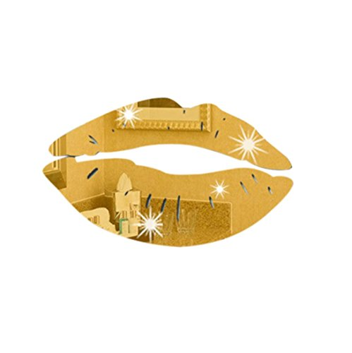 PHOTNO Wall Stickers Creative Lips Mirror Decal Art