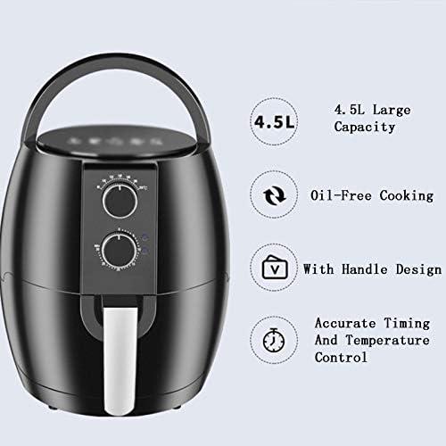 4.5L multifonctions Friteuse électrique, sans huile Air Fryer, Grande Fries Capacité machine, pour une saine sans huile et faible teneur en gras de cuisson, 1350 W, 220 V