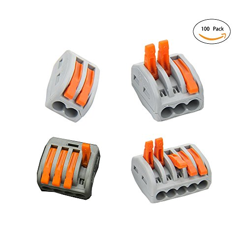 Lever-Nut Assortment Conductor Compact Wire Connectors pct-212 25pcs pct-213 25pcs pct-214 25pcs pct-215 25pcs (100 pcs )
