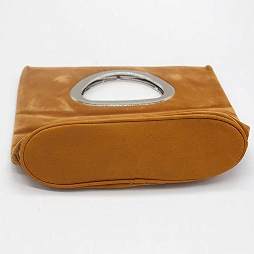 Bag Clutch Ladies Evening Casual Yellow Suede Tote Handbag 8q5FAz