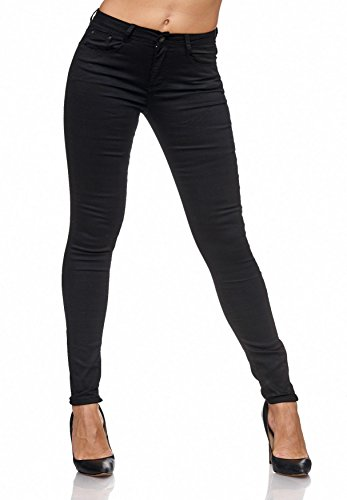 Femmes Hipsters Tubes Glossy Skinny Treggings D2074 Jeans Stretch Noir zMSqUVp