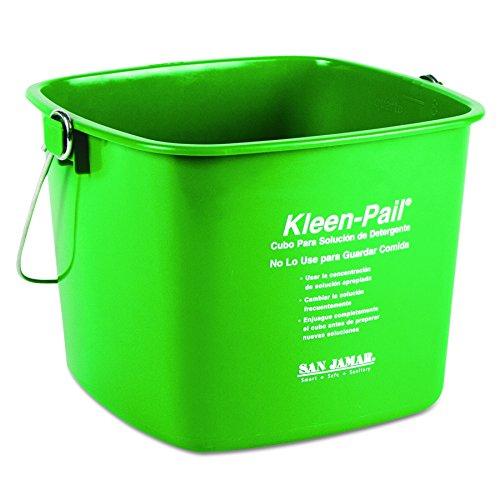 San Jamar KP196GN Kleen-Pail, 6 Quart, Plastic, Green (Case of 12) (Sanitizing Pail Kleen Red)