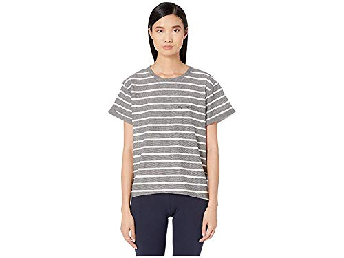 Emporio Armani Women's Pinstripe Terry Sweater Black Stripe/Ivory Small ()