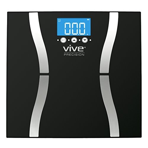 Vive Precision Body Fat Scale (2018 Edition) - Digital Bathroom Scale Calculates & Analyzes Weight & Electronic Body Fat Composition Percentage - Accurate Reliable Home Measurement for Men & - Body Electronic Fat Scale