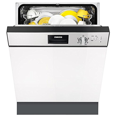 Zanussi ZDI22001XA lavavajilla Semi-incorporado 13 cubiertos A+ - Lavavajillas (Semi-incorporado, Negro, Acero inoxidable, 13 cubiertos, 49 dB, A, 3 ...