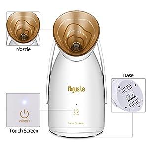 NanoSteamer-Argus Le Home Nano Ionic Facial Steamer with Portable Professional Facial Sauna System-Touch Button-Pollen Box For Facial treatment