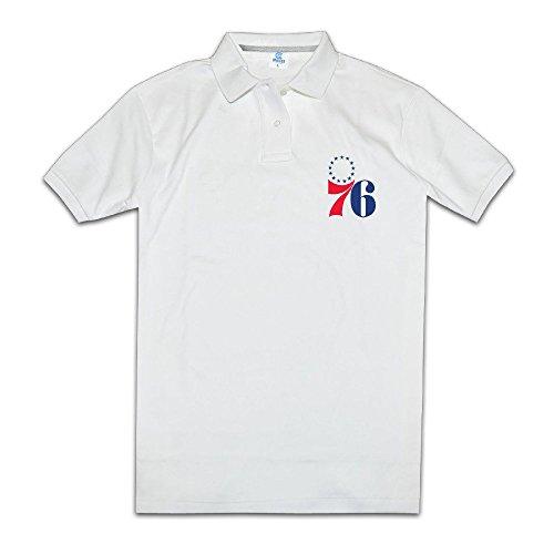 Men Philadelphia 76ers Male White Polo Cotton ()
