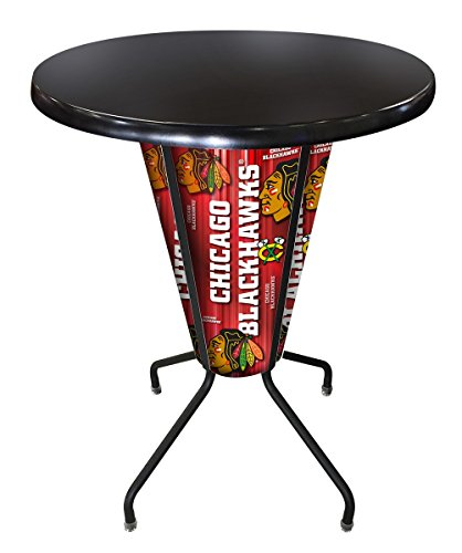 - Holland Bar Stool Co. L218B42ChiHwkOD36RBlk Outdoor/Indoor LED Lighted Carolina Hurricanes Pub Table