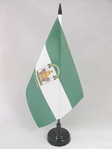 AZ FLAG Bandera de Mesa de ANDALUCÍA 21x14cm - BANDERINA de ...