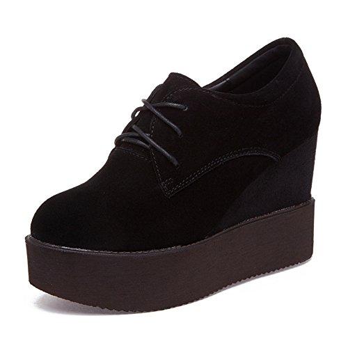 Womens Flat Korean Skateboard Shoes Black - 9
