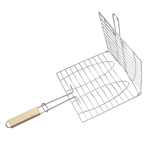 Autumn Water Stainless Steel Barbecue Clip Grilled Fish Tool Barbecue Net Clip Barbecue Accessories Strong Environmental Protection Fish Clip