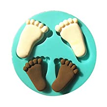 FMY Foot Footprint Baby Silicone Fondant Cake Molds Chocolate Mould For The Kitchen Baking Sugar Cake Decoration Tool