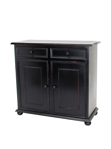 Wayborn Home Furnishing Jayson Cabinet In Black, Black (Mirrored Traditional Cabinet)
