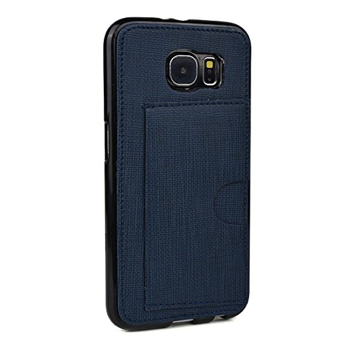 - Kroo Cell Phone Case with Card Holder for Samsung Galaxy S6 - Non-Retail Packaging - Navy Blue