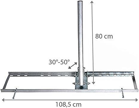 Satix Soporte para viga de tejado techo acero para antena ...