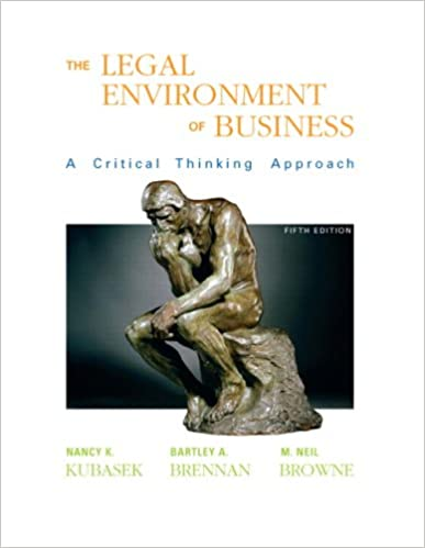 Book Legal Environment of Business (5th Edition)