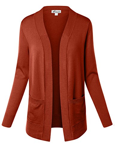 - HATOPANTS Sweater With Pockets Open Cardigans Copper Large