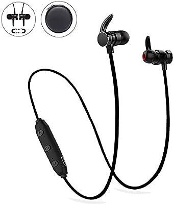 Black Magnet Wireless Bluetooth Earphone Stylish Sports Headset Headphone