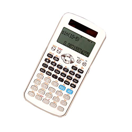 Calculators 12-bit Widescreen HD Display Scientific Calculator Students Use Multi-Function Solar Dual Power Dual Insurance Calculator Office (Pattern : A-2)