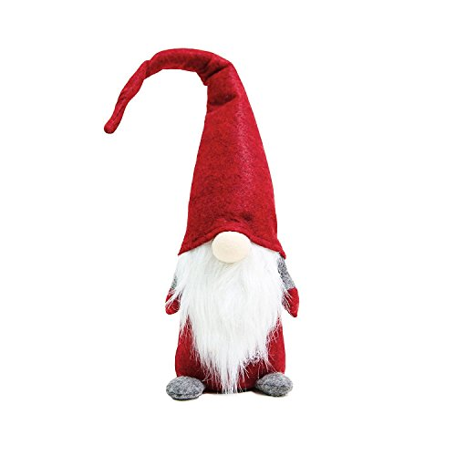 (Handmade Christmas Gnome Ornaments For Men, Women & Kids | Well Crafted Luxury Figurines Set For Home Décor, New Year's Eve Parties, Personalized Gifts, Table Centerpieces, Garden & More- Red)