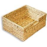 """KMH®, Große Korb-Box """"Hidalgo"""" aus geflochtener Wasserhyazinthe (#204036)"""
