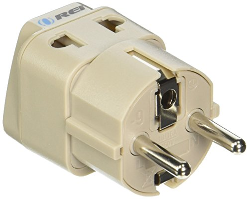 OREI European Plug Adapter Schuko Type E/F for Germany, France, Europe, Russia - Grounded 2 in 1