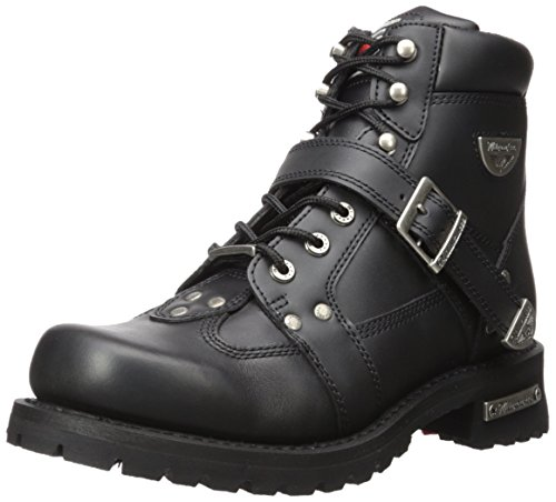 Milwaukee Motorcycle Clothing Company Road Captain Leather Women's Motorcycle Boots (Black, Size 11C) from Milwaukee Motorcycle Clothing Company