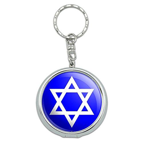 Portable Travel Size Pocket Purse Ashtray Keychain Religious - Star of David (Ash Tray Key Chain)