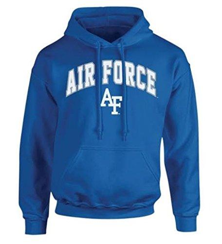 Elite Fan Shop NCAA Men's Air Force Falcons Hoodie Sweatshirt Team Color Arch Air Force Falcons Blue X Large