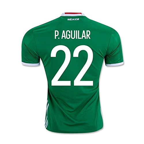 ガチョウ子豚退化するadidas P. Aguilar #22 Mexico Home Jersey Copa America Centenario 2016 - YOUTH/サッカーユニフォーム メキシコ ホーム用 ジュニア向け