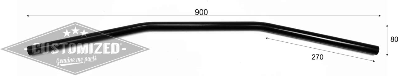 22mm Guidon Universel Drag Bar 90cm Chrom/é 7//8 Pouce