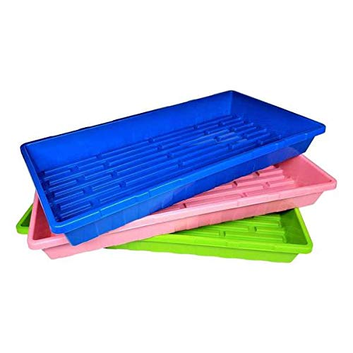 Multi-Color Extra Strength Seedling Trays (No Drain Holes) - 20