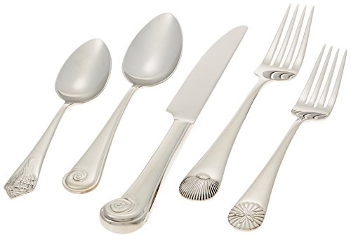 Reed & Barton Sea Shells 18/10 Stainless Steel 5-Piece Place Setting, Service for -