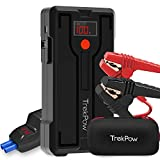 Car Jump Starter, TrekPow G39 1200A Peak Battery Booster (up to 6.5L Gas/5.5L Diesel Engine) 12V Auto Portable Jump Pack with Smart Jumper Cables, Quick-Charge 3.0, Type-C Port, 12V/10A DC Port, LED Light