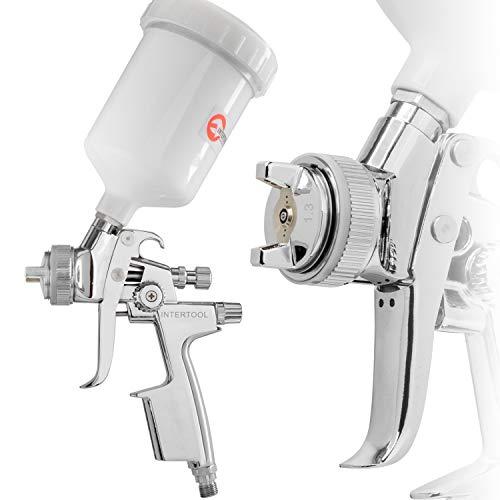 INTERTOOL HVLP Professional Gravity Feed Air Spray Gun 1.3 mm Nozzle Size 600 cc Cup PT-0105 ()