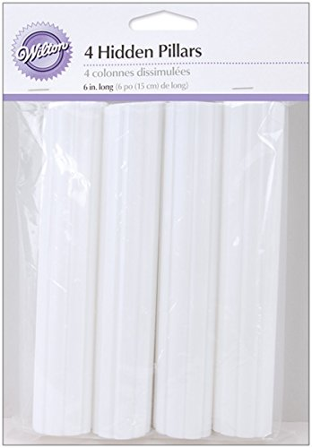 Wilton 303-8 4-Pack Hidden Pillar for Cakes, 6-Inch -
