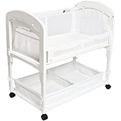 Arm's Reach Cambria Co-Sleeper Bassinet, Quilted Poly without Skirt White