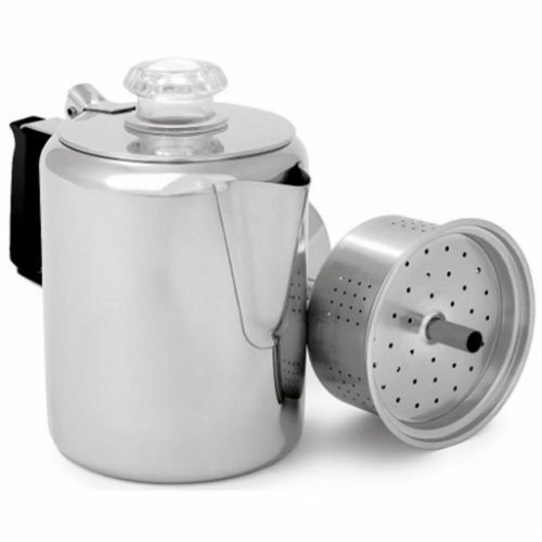Stainless Percolator Gsi (GSI Glacier Stainless Coffee Perk Cup, 3-Cup)