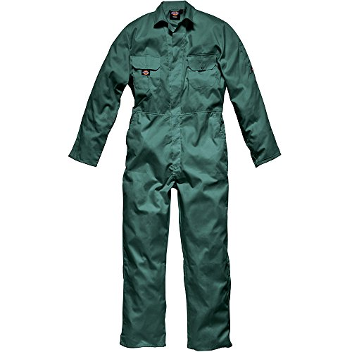Green Coverall - Dickies Redhawk Economy Stud Front Coverall Regular / Mens Workwear (S) (Lincoln)