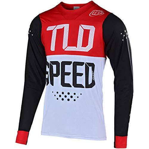 - Troy Lee Designs Skyline Air L/S Speedshop Men's Off-Road BMX Cycling Jersey - Black/Red/Large