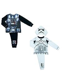 Cartoon Character Products 2 Pack Novelty Disney Boys Star Wars Pyjamas Set - Size - 3-4 Years (98-104 cms)