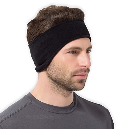 Fleece Ear Warmers Headband - Cold Weather Ear Muffs - Warm & Cozy Winter Ear Covers - Stretchy & Thermal Polar Ear Band for Men & Women - Ideal for Running, Sports, Cycling & Daily Wear