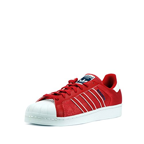 adidas Superstar Foundation Herren Sneakers rot blau weiß BB5394