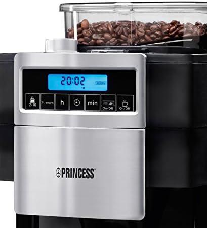 Princess 01.249402.01.001 Deluxe Cafetière Filtre et Moulin à Café 27 x 22 x 40,5 cm