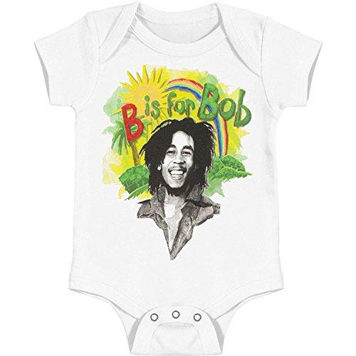 Infant: Bob Marley - Rainbow Bodysuit Infant Onesie Size 6-12 Mos