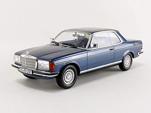 Metallic Blue Diecast Car (Norev 1980 Mercedes Benz 280 CE Coupe Blue Metallic 1/18 Diecast Model Car 183589)