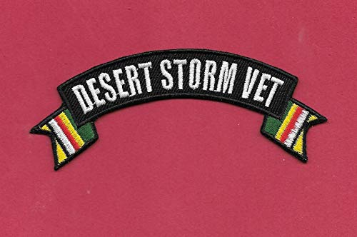 Iron On Embroidered Patch Top Quality New Desert Storm Vet Iron on, 1 1/4 X 4