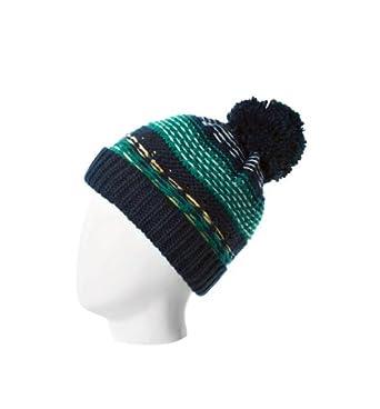Promod Bonnet à pompon femme Imprimé Turquoise Unique