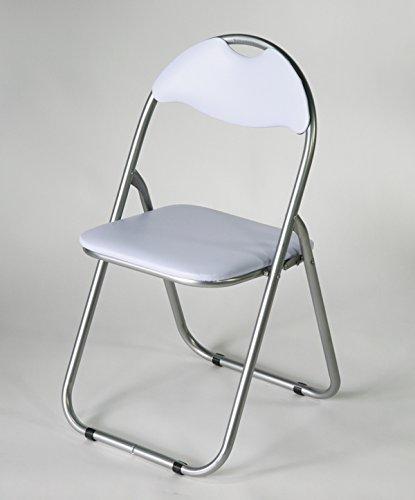 5脚セット  パイプイス がっちりパイプ 直径 約22mm 折りたたみパイプ椅子 会議イス ホワイト X B00TTU042G