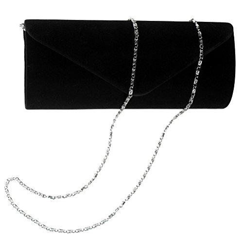 Wedding Envelope Evening Clutch Clutch Womens Vintage Velvet And Purses Black Party BaoLan d8qxwXH8